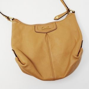 Coach Ashley Camel Brown leather swingpack bag